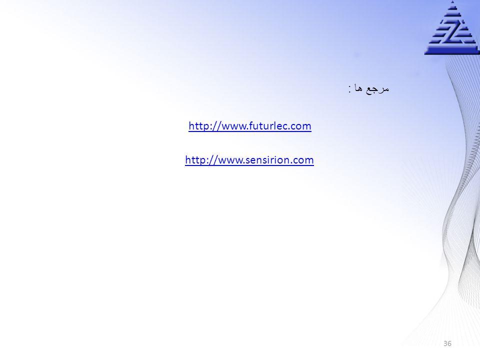 مرجع ها : http://www.futurlec.com http://www.sensirion.com