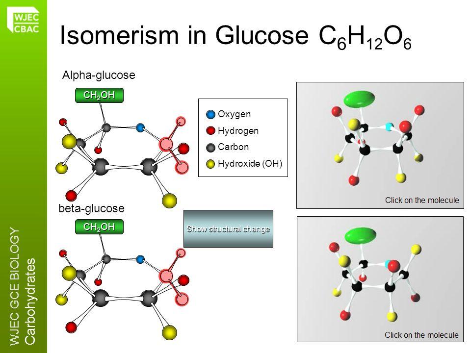 Isomerism in Glucose C6H12O6