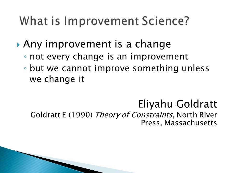 What is Improvement Science