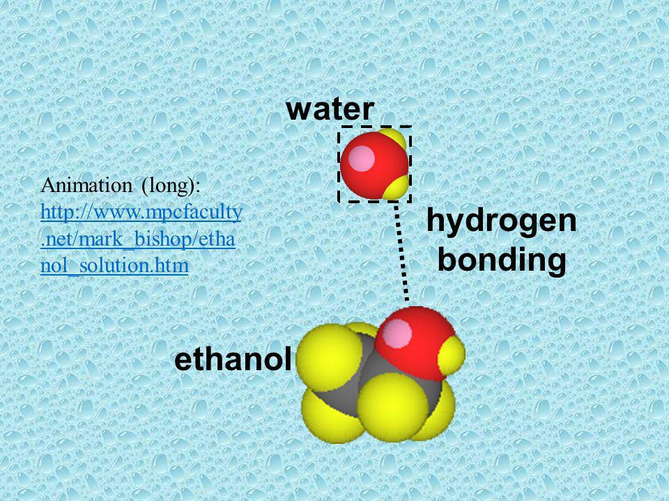 water hydrogen bonding ethanol
