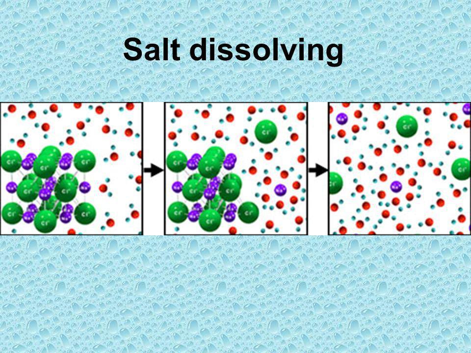 Salt dissolving