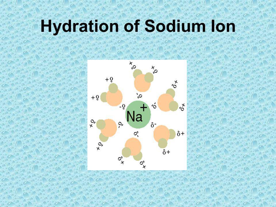 Hydration of Sodium Ion