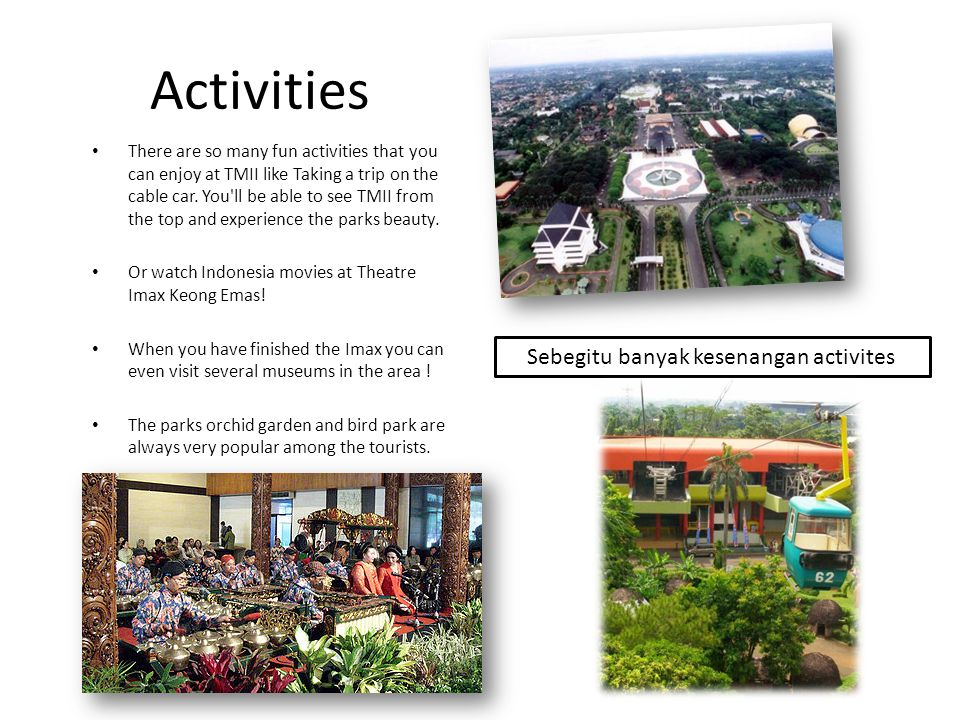 Activities Sebegitu banyak kesenangan activites