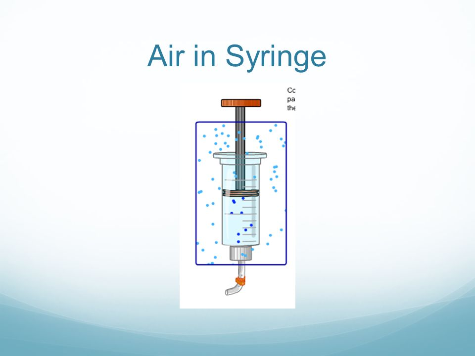 Air in Syringe