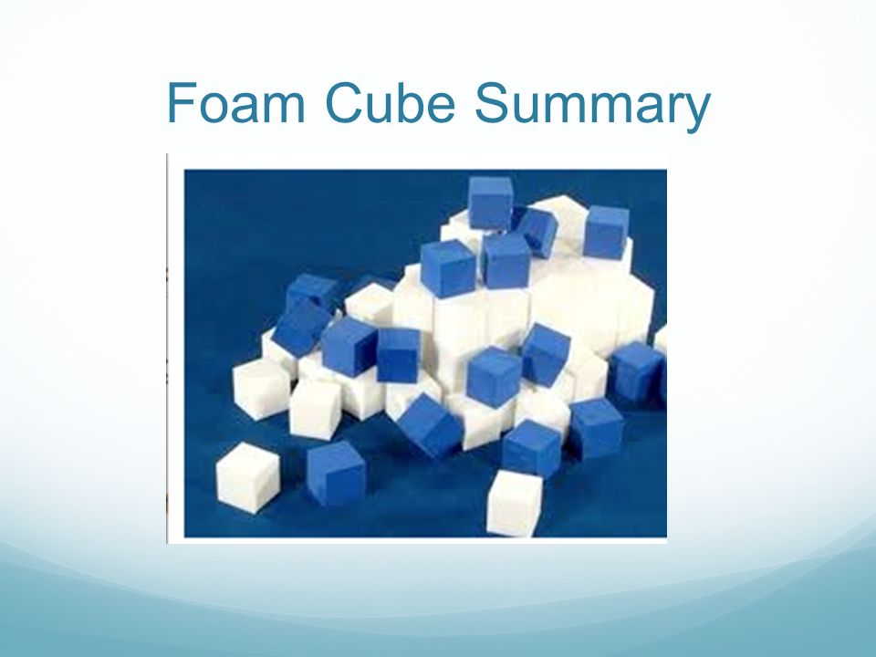 Foam Cube Summary