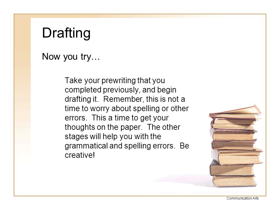 Drafting Now you try…