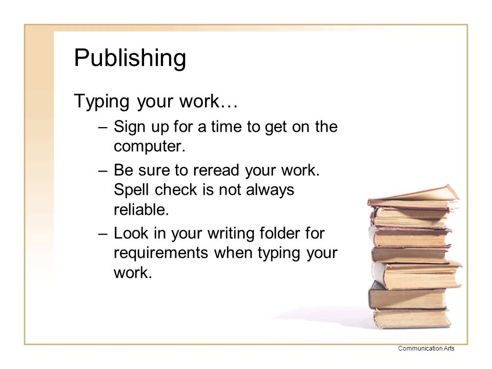 Publishing Typing your work…