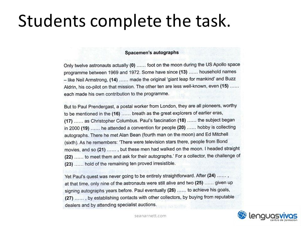 Students complete the task.