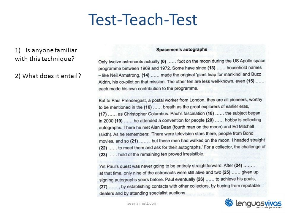 Test-Teach-Test Is anyone familiar with this technique