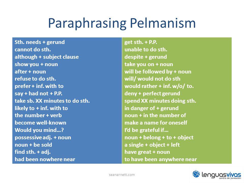 Paraphrasing Pelmanism