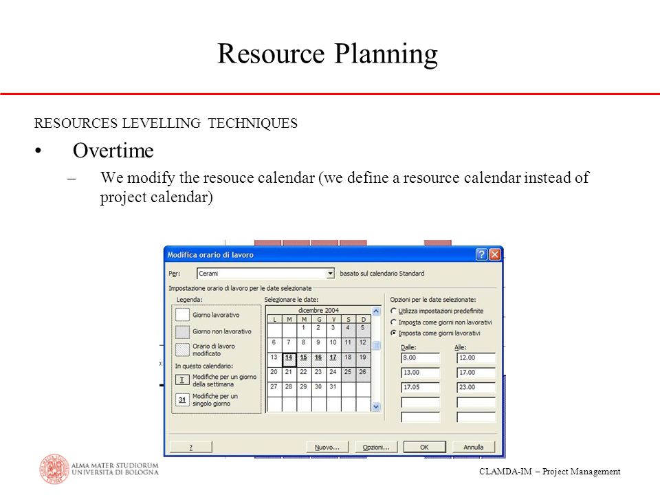 Resource Planning Overtime