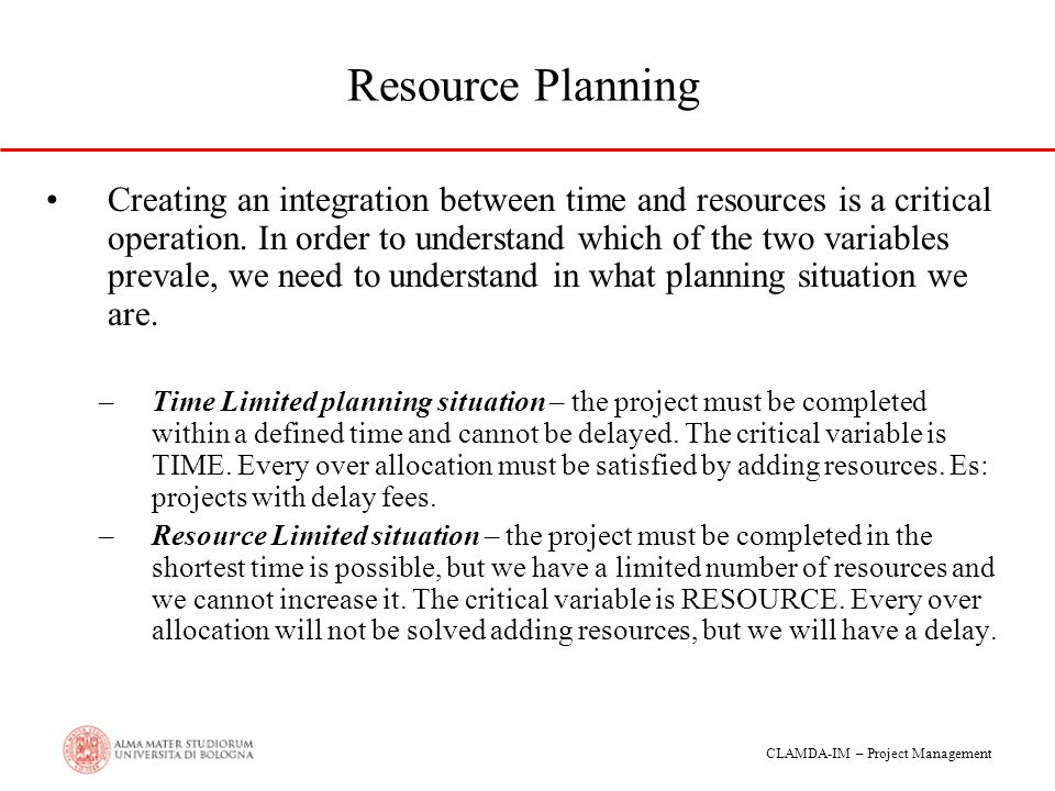 Resource Planning