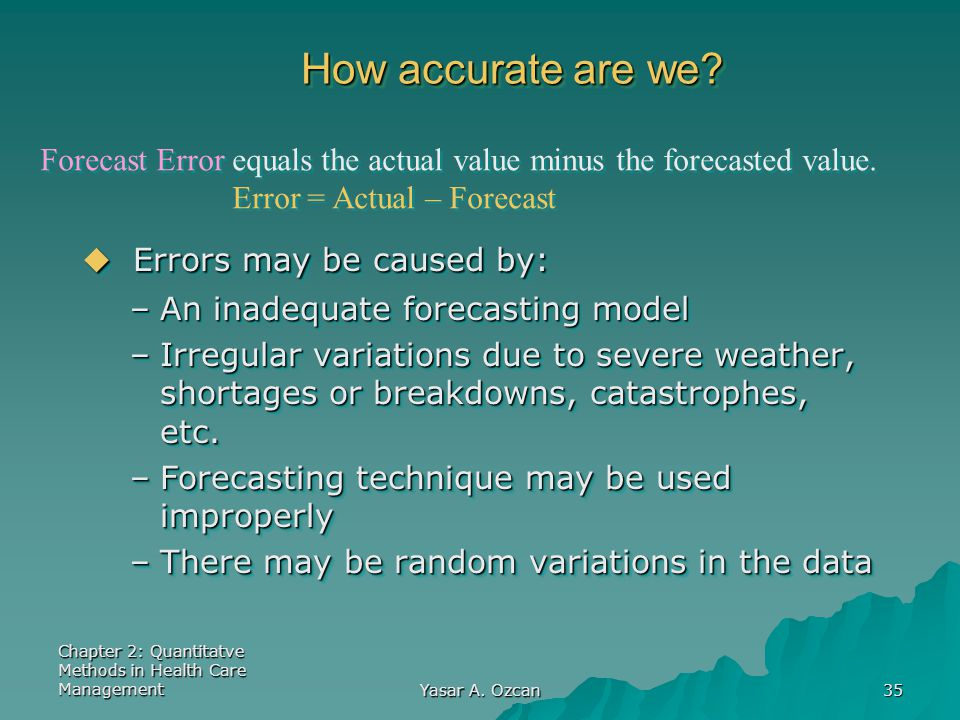 Errors may be caused by: