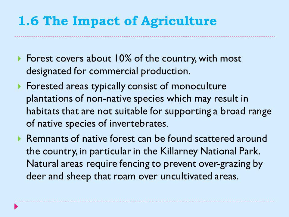 1.6 The Impact of Agriculture