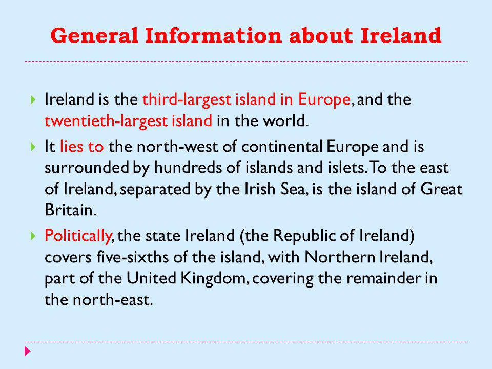General Information about Ireland