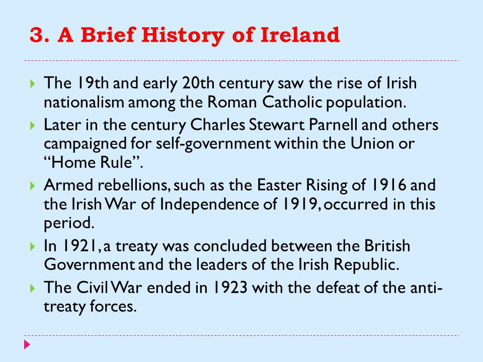 3. A Brief History of Ireland