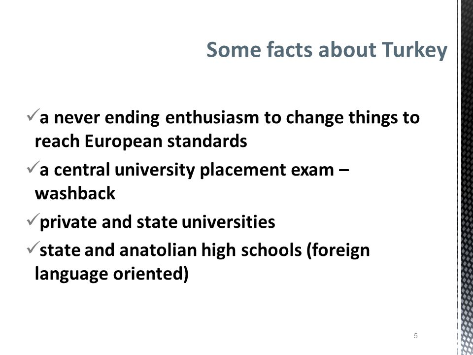 Some facts about Turkey