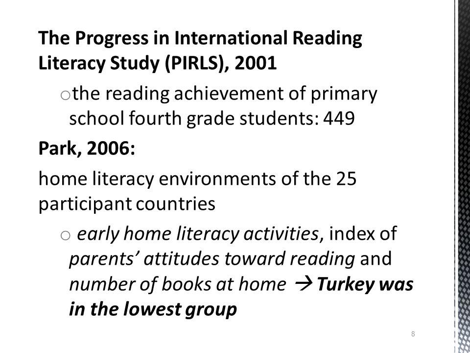 The Progress in International Reading Literacy Study (PIRLS), 2001