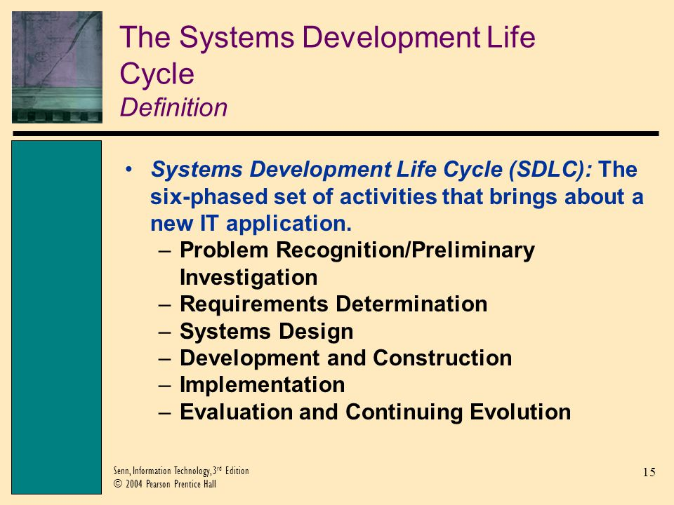 The Systems Development Life Cycle Definition