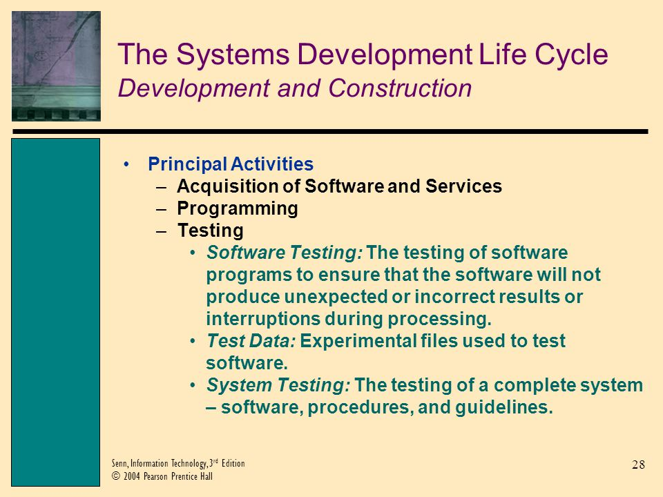 The Systems Development Life Cycle Development and Construction