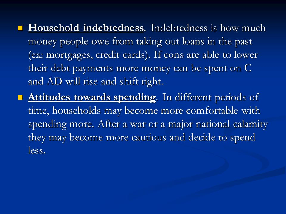 Household indebtedness