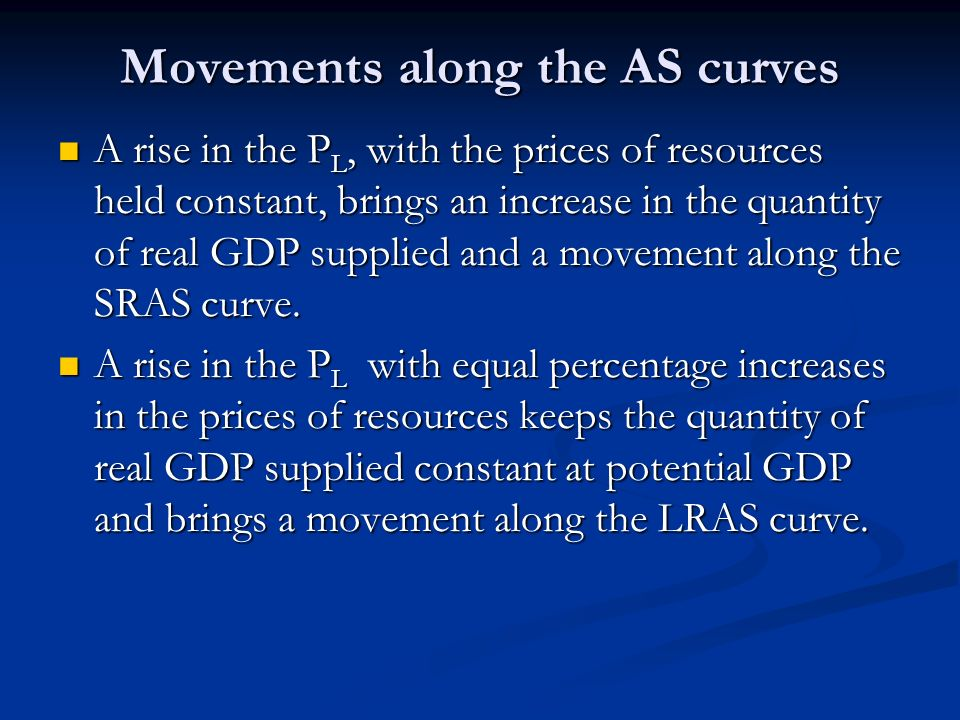 Movements along the AS curves