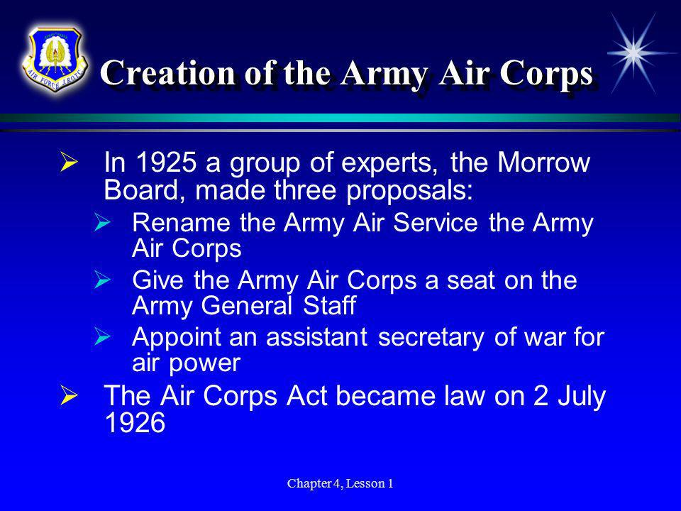 Creation of the Army Air Corps