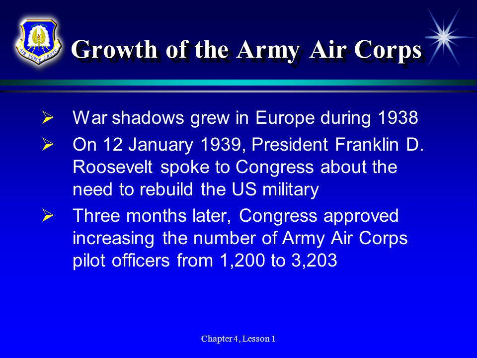 Growth of the Army Air Corps