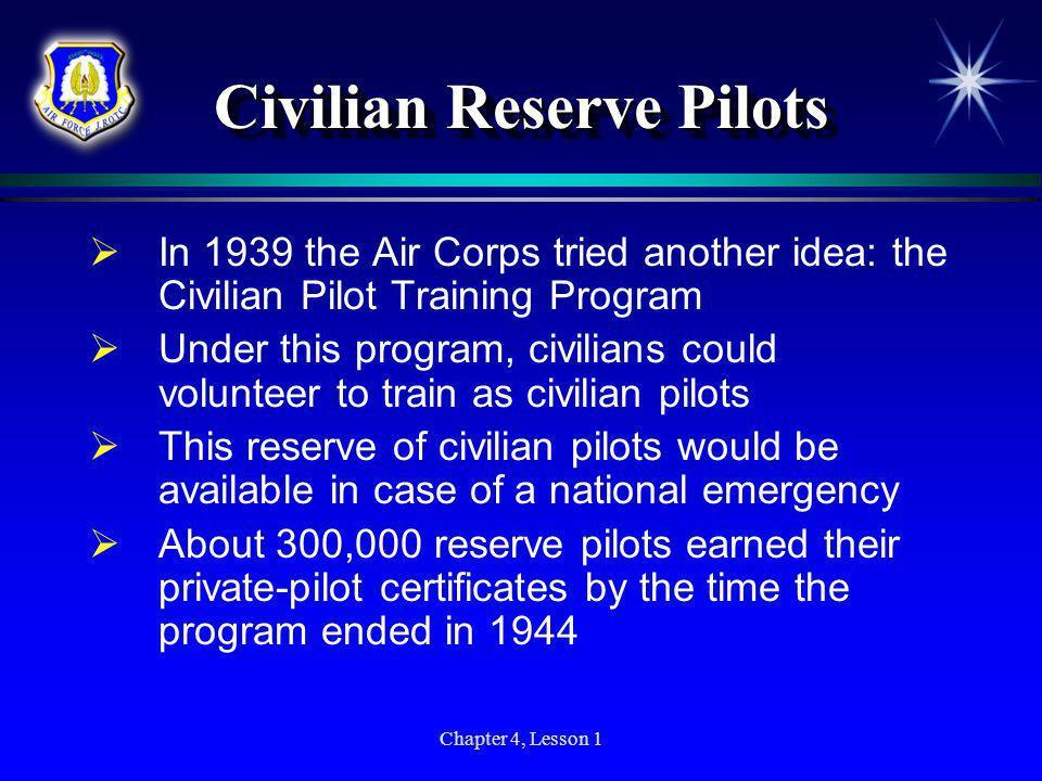 Civilian Reserve Pilots
