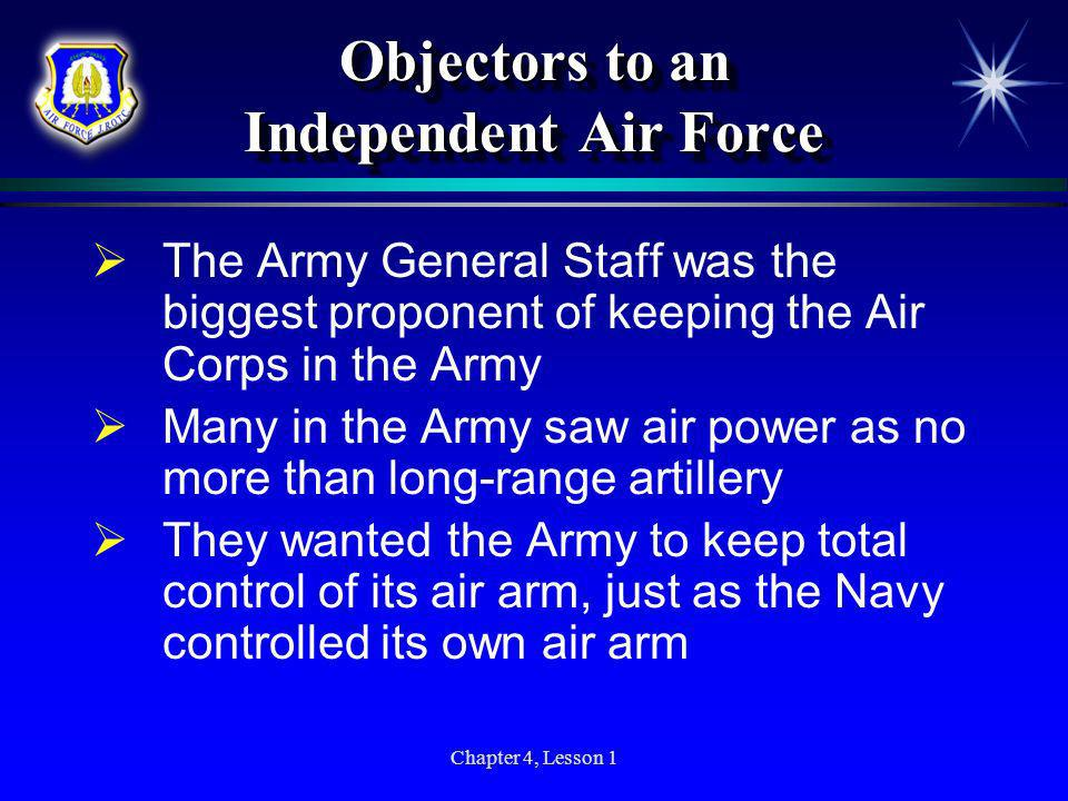 Objectors to an Independent Air Force