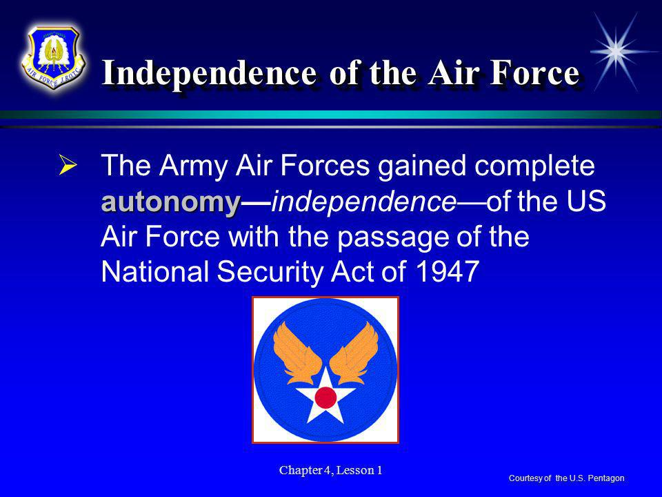 Independence of the Air Force