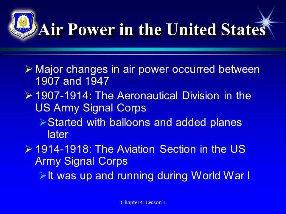 Air Power in the United States