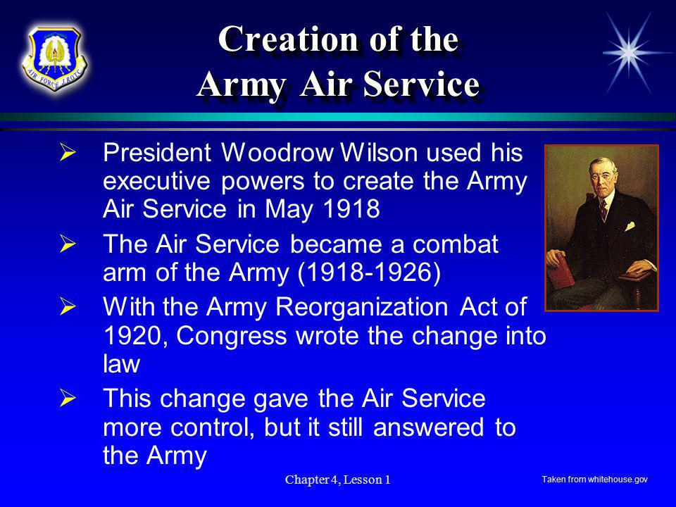 Creation of the Army Air Service