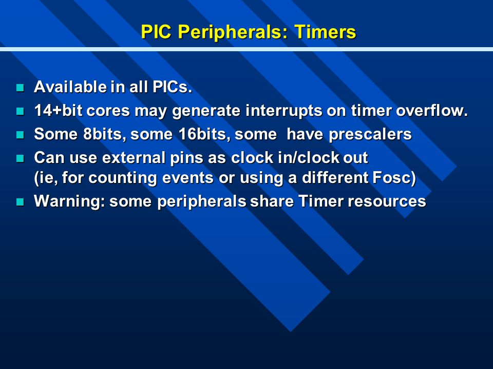 PIC Peripherals: Timers