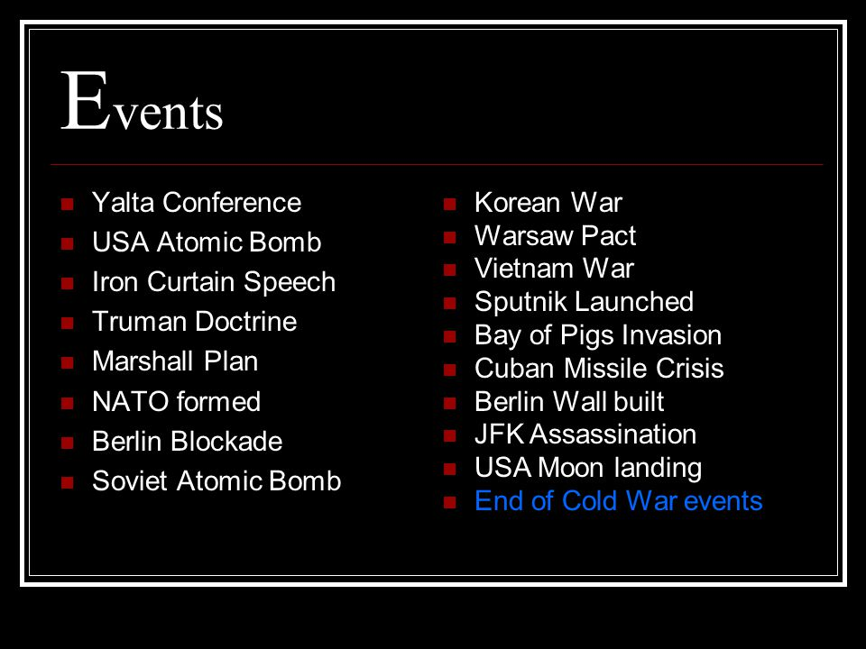 Events Yalta Conference USA Atomic Bomb Iron Curtain Speech