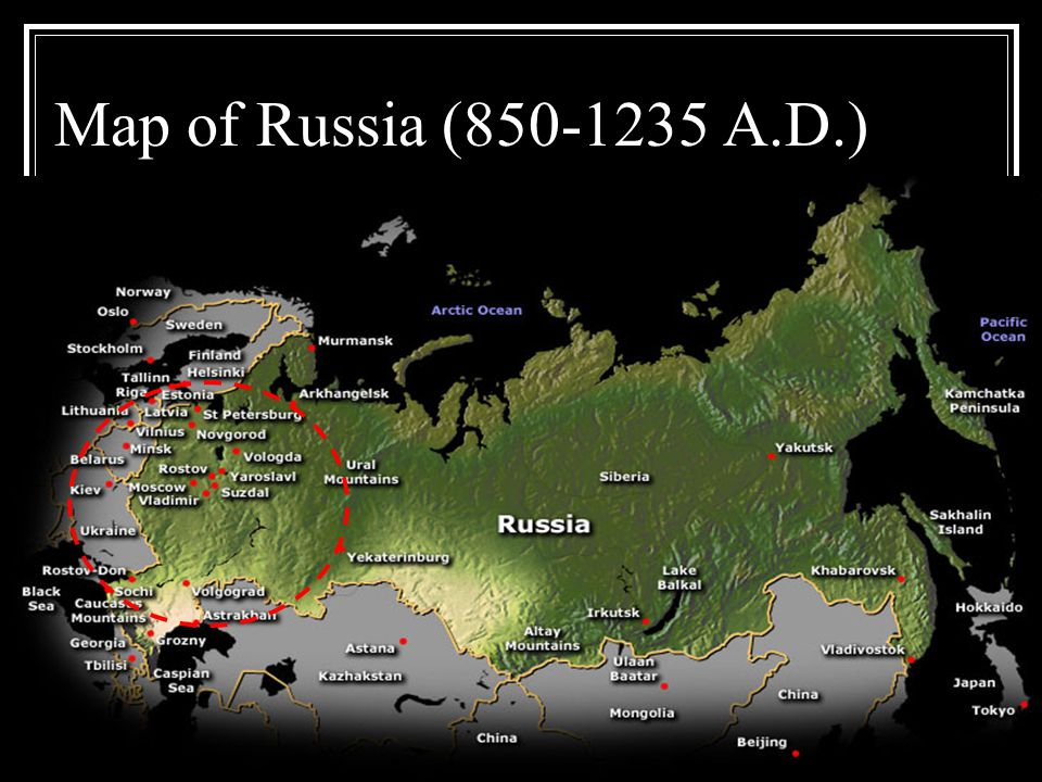 Map of Russia (850-1235 A.D.)