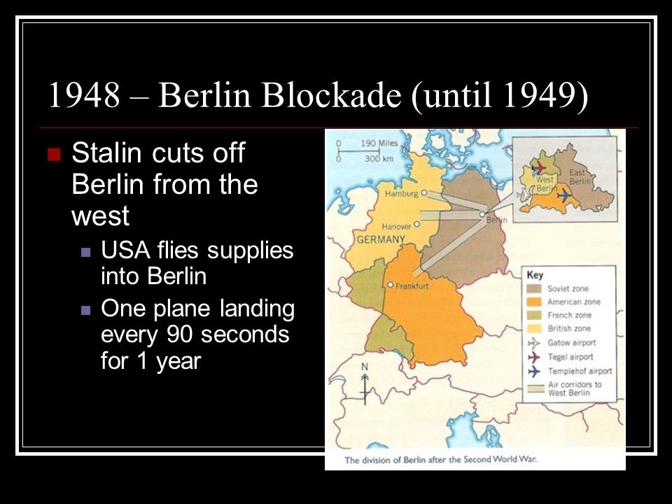 1948 – Berlin Blockade (until 1949)
