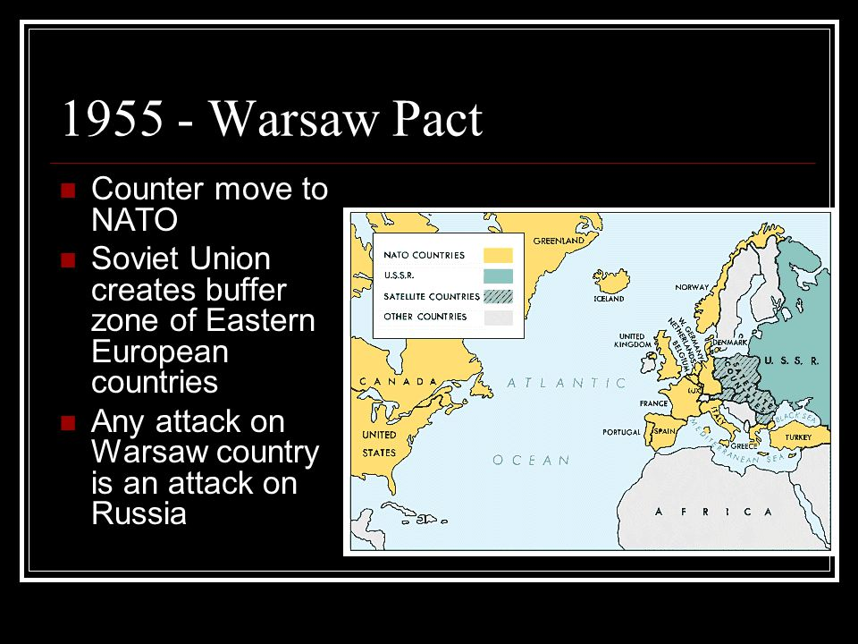 1955 - Warsaw Pact Counter move to NATO