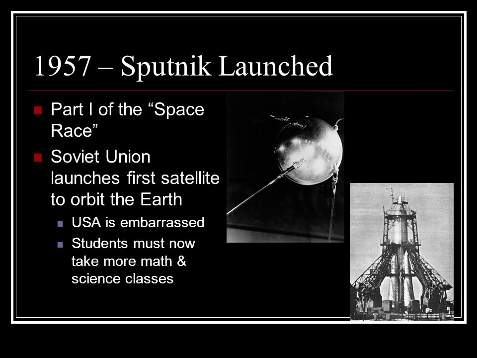 1957 – Sputnik Launched Part I of the Space Race
