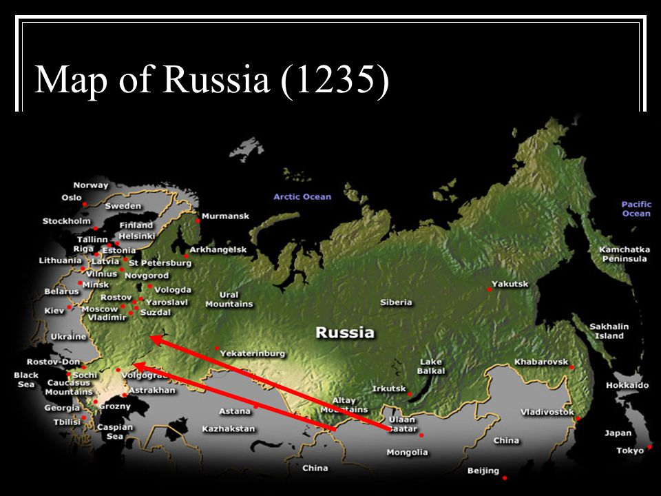 Map of Russia (1235)