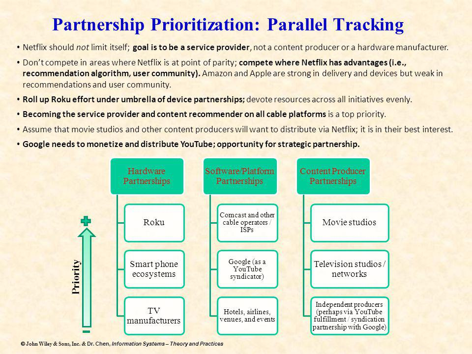 Partnership Prioritization: Parallel Tracking