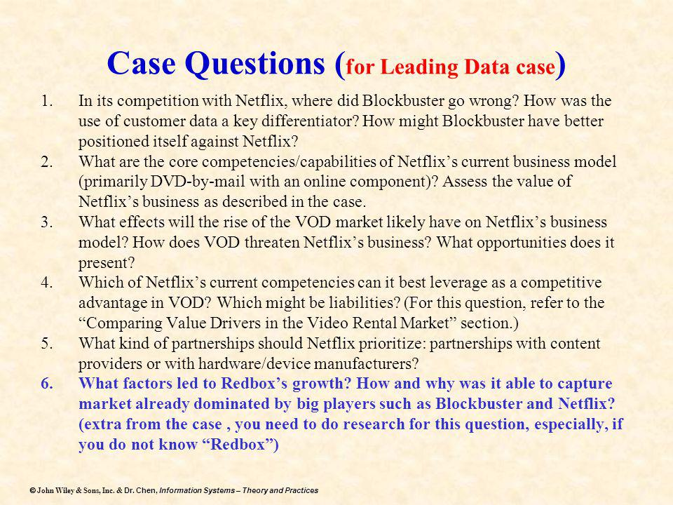 Case Questions (for Leading Data case)