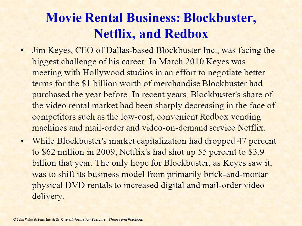 Movie Rental Business: Blockbuster, Netflix, and Redbox