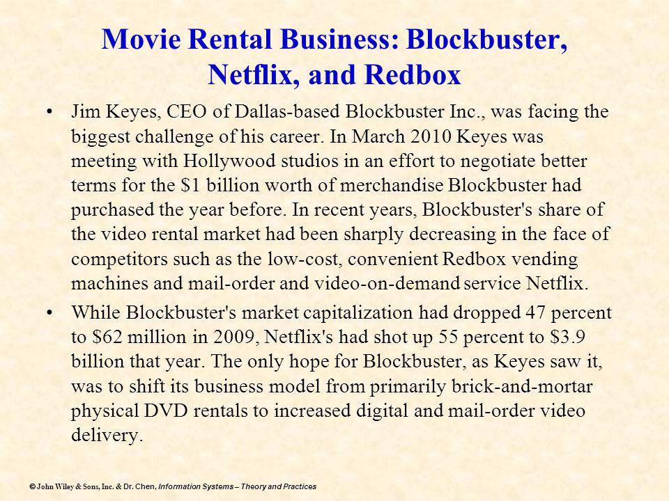 Movie Rental Business: Blockbuster, Netflix, and Redbox