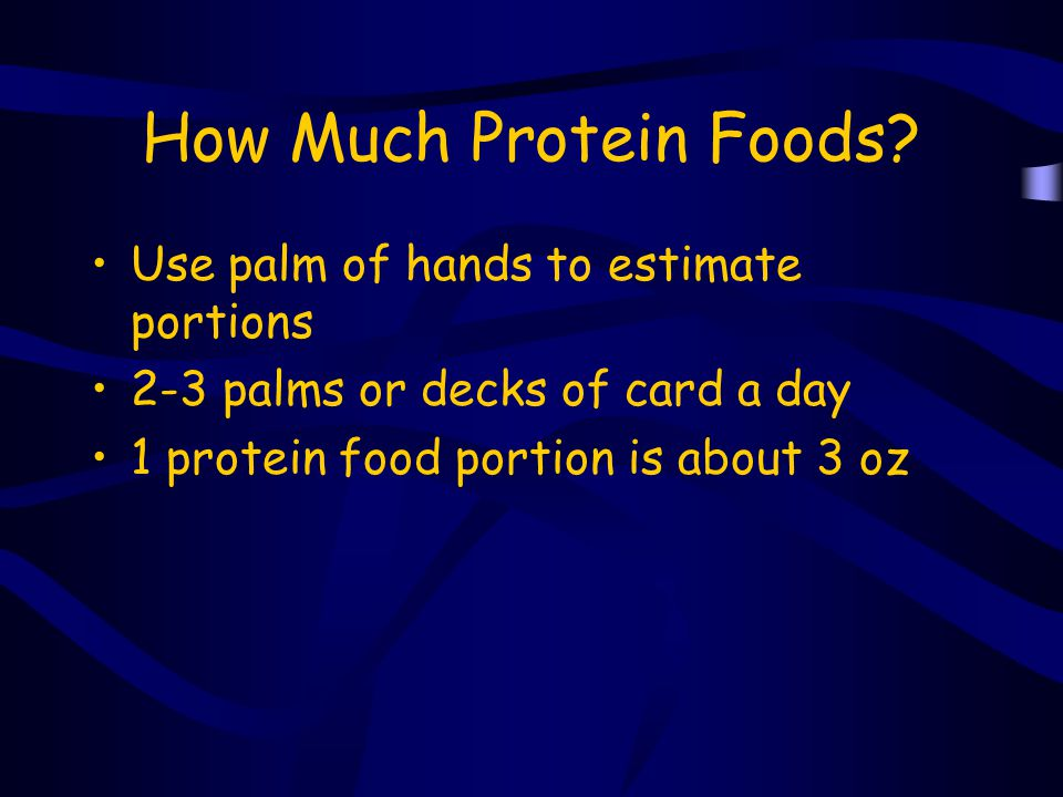 How Much Protein Foods Use palm of hands to estimate portions
