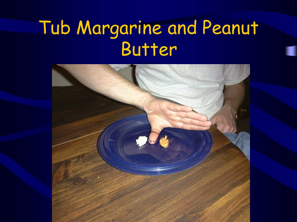 Tub Margarine and Peanut Butter