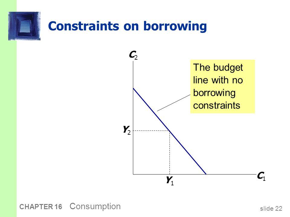Constraints on borrowing
