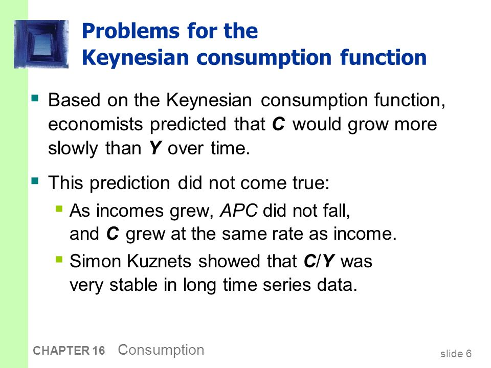 The Consumption Puzzle