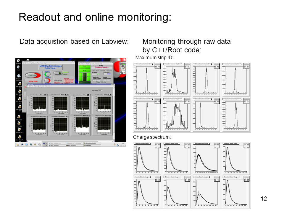 Readout and online monitoring: