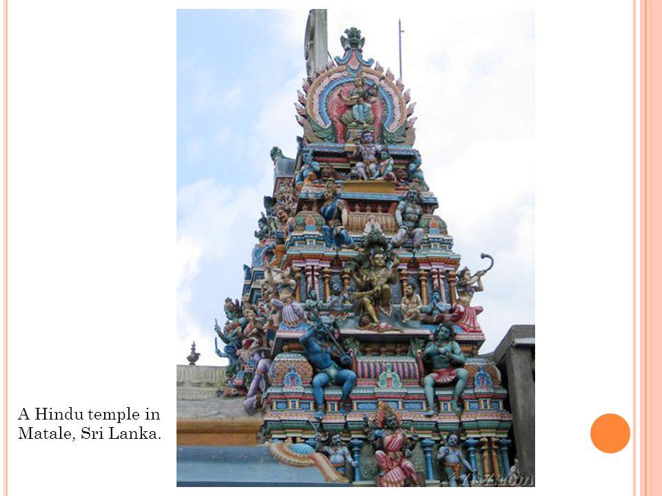 A Hindu temple in Matale, Sri Lanka.